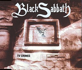 Обложка сингла Black Sabbath «TV Crimes» (1998)