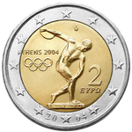 €2 commemorative coin Greece 2004.png