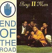 Обложка сингла «End of the Road» (Boyz II Men, 1992)