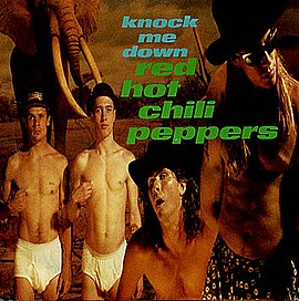 Обложка сингла Red Hot Chili Peppers «Knock Me Down» (1989)