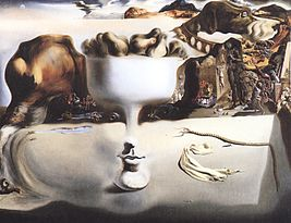 Apparition of Face and Fruit Dish on a Beach by Dali.jpg