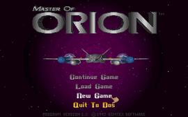 Master of Orion menu screen.png