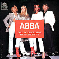 Обложка сингла «Take a Chance on Me» (ABBA, 1978)