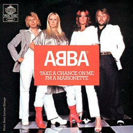 Обложка сингла ABBA «Take a Chance on Me» (1978)