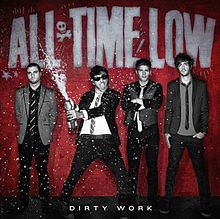 Обложка альбома All Time Low «Dirty Work» (2011)