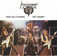 Обложка сингла «Fast as a Shark» (Accept, 1982)