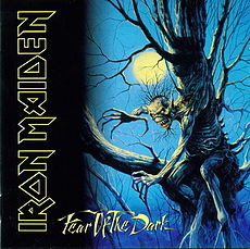 Обложка альбома Iron Maiden «Fear of the Dark» (1992)