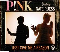 Обложка сингла «Just Give Me a Reason» (P!nk, 2013)