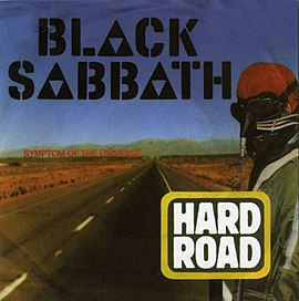 Обложка сингла Black Sabbath «A Hard Road» (1978)