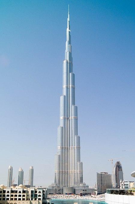 Самое высокое здание в мире 828 метра
