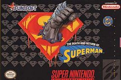 Обложка для The Death and Return of Superman для Super Nintendo