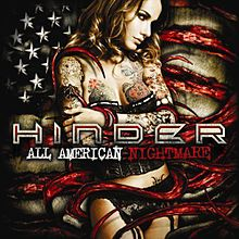 Обложка альбома Hinder «All American Nightmare» (2010)