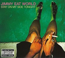 Обложка альбома Jimmy Eat World «Stay on My Side Tonight» (2005)