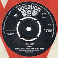 Обложка сингла «Liza Jane» (Davie Jones with the King Bees, {{{Год}}})