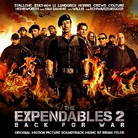 Обложка альбома Брайана Тайлера «The Expendables 2: Original Motion Picture Soundtrack» (2012)