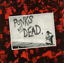 Обложка альбома The Exploited «Punk's Not Dead» (1981)