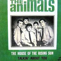 Обложка сингла «The House of the Rising Sun» (The Animals, {{{Год}}})