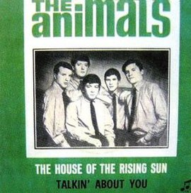 Обложка сингла The Animals «The House of the Rising Sun» ()