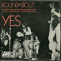 Обложка сингла «Roundabout» (Yes, 1972)