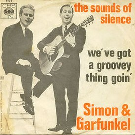 Обложка сингла Simon & Garfunkel «The Sound of Silence» (1965)