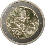 €2 commemorative coin Italy 2008.jpg