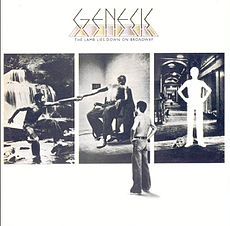 Обложка альбома Genesis «The Lamb Lies Down on Broadway» (1974)