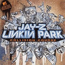 Обложка альбома Linkin Park и Jay-Z «Collision Course» (2004)