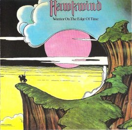 Обложка альбома Hawkwind «Warrior on the Edge of Time» (1975)