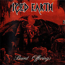 Обложка альбома Iced Earth «Burnt Offerings» (1995)