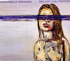 Обложка сингла Red Hot Chili Peppers «Universally Speaking» (2003)