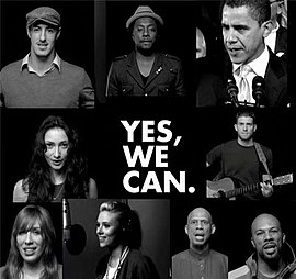 Обложка сингла will.i.am «Yes We Can» (2008)