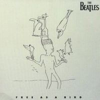 Обложка сингла «Free as a Bird» (The Beatles, 1995)
