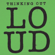 Обложка сингла «Thinking Out Loud» (Эда Ширана, 2014)