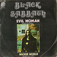 Обложка сингла «Evil Woman» (Black Sabbath, 1969)