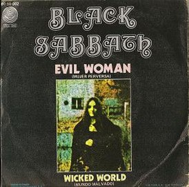 Обложка сингла Black Sabbath «Evil Woman» (1969)