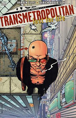 Обложка к Transmetropolitan Vol. 2: Lust for Life. Художник - Darick Robertson