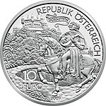 10 Euro - Richard the Lionheart in Dürnstein front.jpg