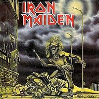 Обложка сингла «Sanctuary» (Iron Maiden, 1980)