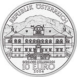 2004 Austria 10 Euro The Castle of Hellbrunn front.jpg