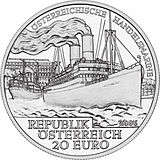 2006 Austria 20 Euro The Austrian Merchant Navy back.jpg
