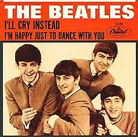 Обложка сингла «I'll Cry Instead» (The Beatles, 1964)