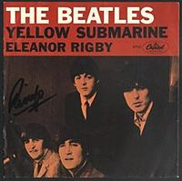 Обложка сингла «Eleanor Rigby» (The Beatles, 1966)