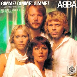 Обложка сингла ABBA «Gimme! Gimme! Gimme! (A Man after Midnight)» (1979)