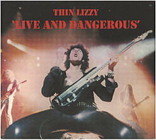 Обложка альбома Thin Lizzy «Live and Dangerous» (1978)