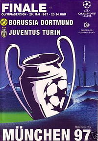 1997 uefa chions league final logo