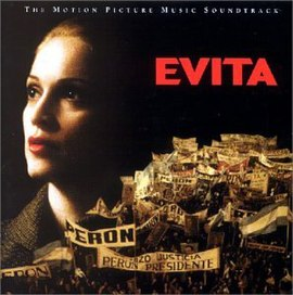 Обложка альбома Мадонны «Evita: Music from the Motion Picture» (1996)