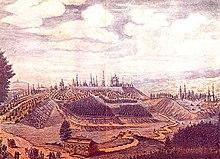 Вид города Владимира от Москвы с приезда к северо-западу. 1764 г.
