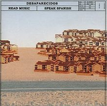 Обложка альбома Desaparecidos «Read Music/Speak Spanish» (2002)