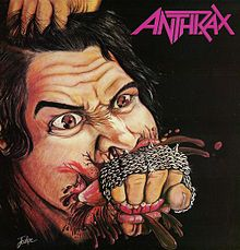 Обложка альбома Anthrax «Fistful of Metal» (1984)