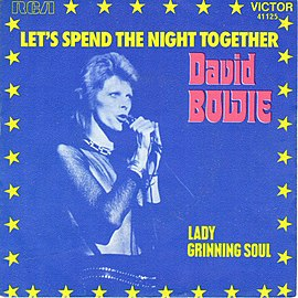 Обложка сингла David Bowie «Let's Spend The Night Together» (1973)